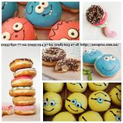 Muffins, donuts, Berliner, cupcakes, cakes from the manufacturer